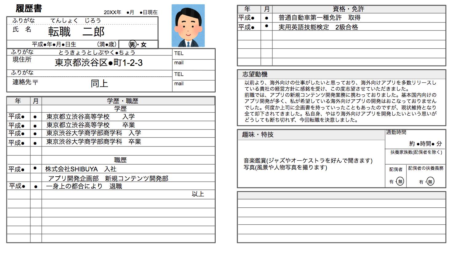 マイナビ転職エージェント 履歴書作成